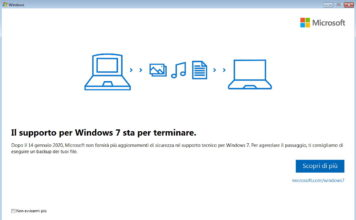 Fine supporto per Windows 7